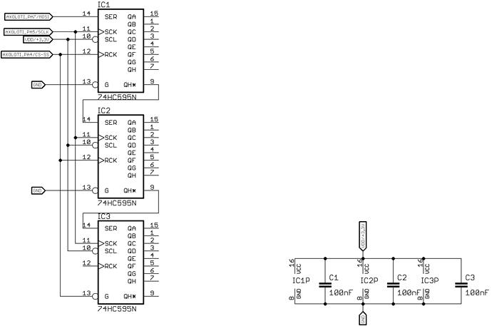 Gpio I O Example 74hc595 Shift Register Amp Spi Patching