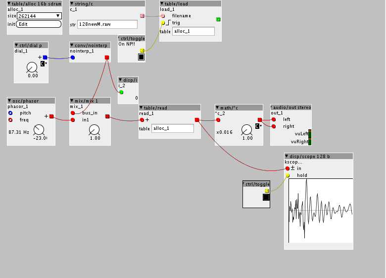 Wavetables     Again      How do I playback only 1 cycle of a